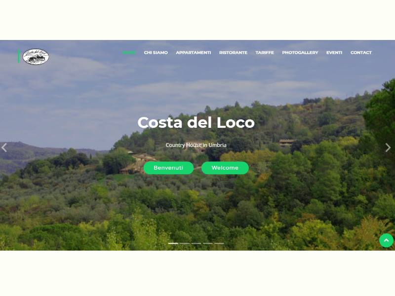 Website Responsive Country House in Umbria
